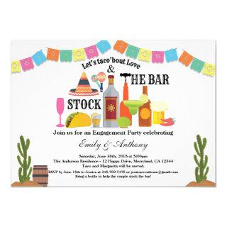 Stock the bar engagement party Taco Fiesta Invitations