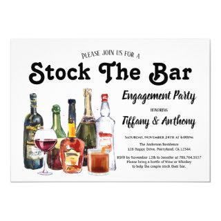 Stock The Bar Engagement Party Vintage Invitations