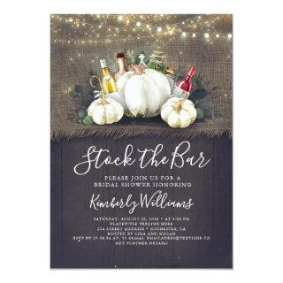 Stock The Bar Fall Party / Bridal Shower Invitations