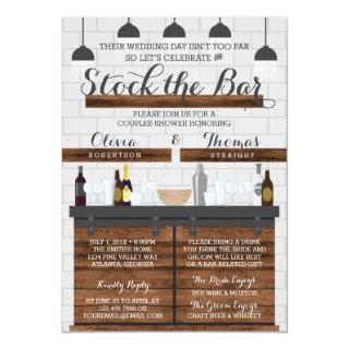 Stock the Bar Shower, Farmhouse Style Invitations