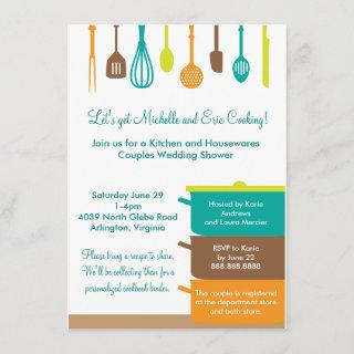 Stock the Kitchen Bridal Wedding Couples Shower Invitation