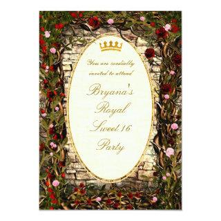 Storybook Princess Vintage Briar Rose Party Invitations