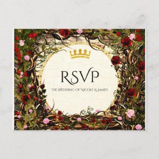 Storybook Princess Vintage Briar Rose RSVP Invitations Postcard