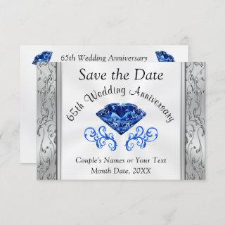 Stunning Anniversary Save the Date Cards, Any Year Invitation