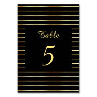 Stylish Handwritten Black And Gold Template Modern Table Number