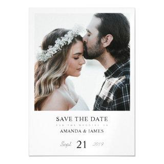 Stylish Modern Photo Magnet Wedding Save the Date