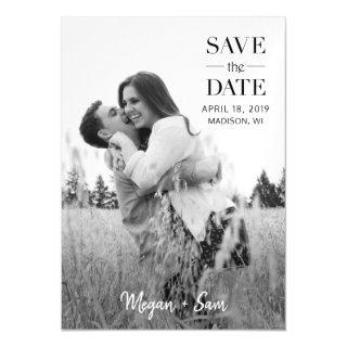 Stylish Modern Photo Wedding Save the Date Magnet