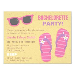 Stylish Trendy Beach Weekend Bachelorette Party Invitation