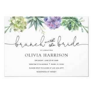 Succulent Brunch with the Bride Shower Invitations