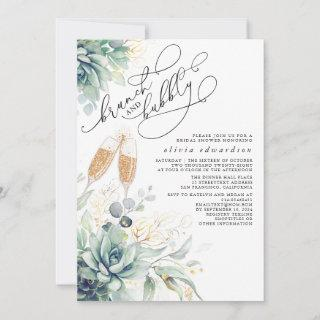 Succulent Greenery Brunch and Bubbly Bridal Shower