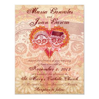 Sugar Skull Couple Wedding Invitations 2