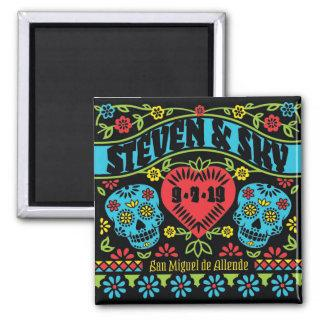 Sugar Skulls Customized Save the Date Magnet