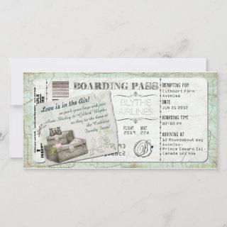 Suitcase Boarding Pass Invitation