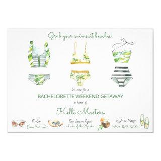 Summer Bachelorette Weekend Getaway Itinerary Invitations
