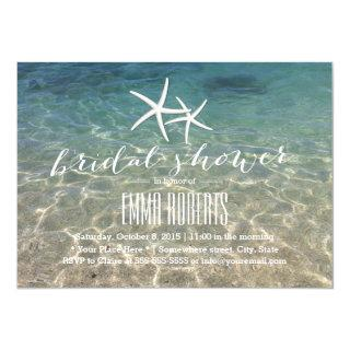 Summer Beach Starfish Bridal Shower Invitation