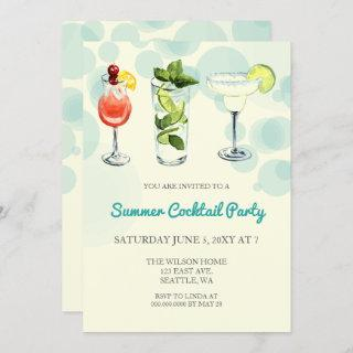 Summer Cocktail party Invitations