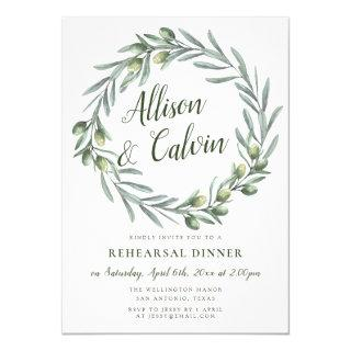 Summer foliage rehearsal dinner Invitations