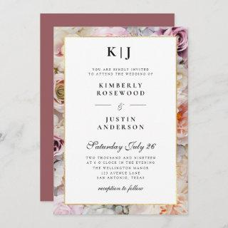 summer garden florals wedding Invitations