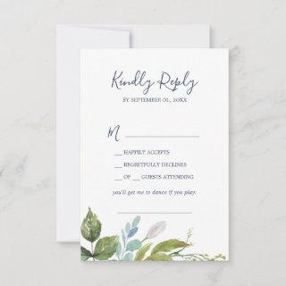 Summer Greenery Song Request RSVP Card