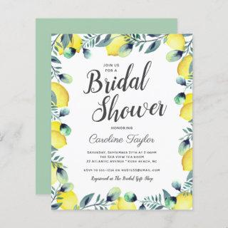Summer Lemons & Eucalyptus Bright Bridal Shower
