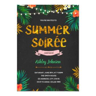 Summer soiree party Invitations
