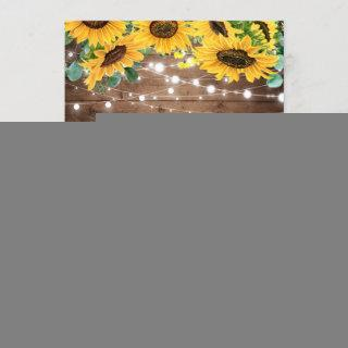 Sunflower String Lights I DO BBQ Engagement Party Invitations