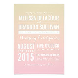 Sunset Ombre / Gradient Beach Wedding Invitations
