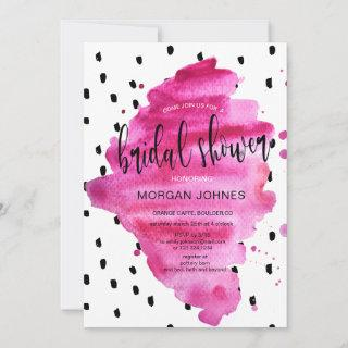 Super Chic Hot Pink | Bridal Shower Invitations