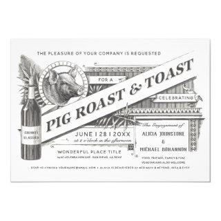 Supreme Vintage Pig Roast & Toast Invitations
