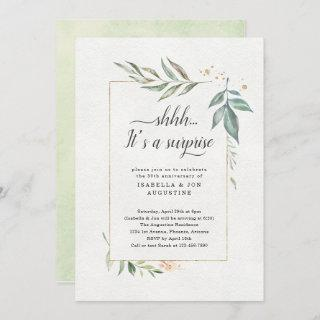 Surprise Anniversary Party Watercolor Floral