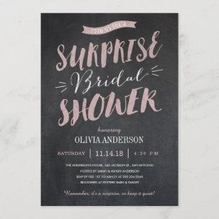 Surprise Bridal Shower Invitations - Chalked