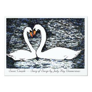 Swan Couple -- Song of Songs Invitations