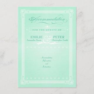 Sweet Mint Green Poster Style Accommodations Card
