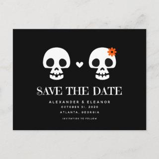 Sweet Skulls Customizable Save the Date Postcard