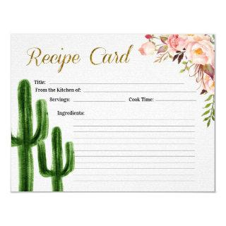 Taco bout Love Bridal Shower Recipe Card