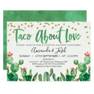 Taco Bout Love Cactus Bridal Shower Invitations