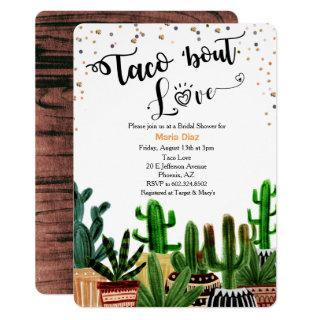Taco 'bout Love Cactus Bridal Shower Invitations