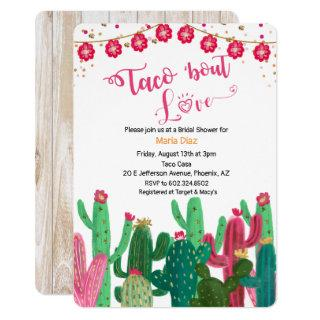 Taco 'bout Love Cactus Bridal Shower Invitation