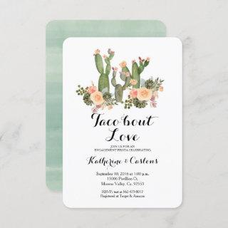 Taco Bout Love cactus engagement party Invitations