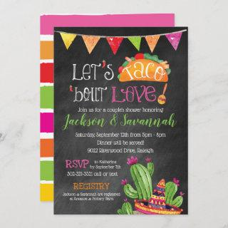 Taco bout Love - Chalkboard Bridal Invitation