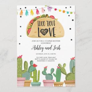 Taco Bout Love Fiesta Couples Shower Invite Cactus
