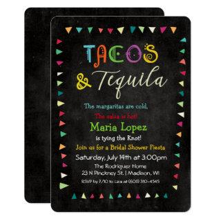 Tacos and Tequila Bridal Shower Invitations