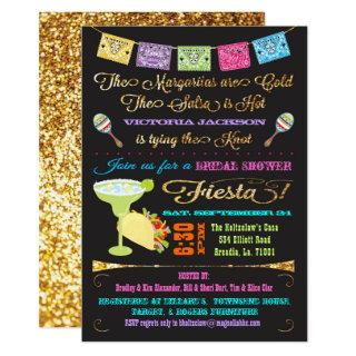 Tacos and Tequila Bridal Shower Mexican Fiesta Invitations