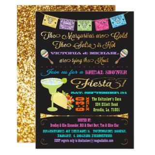 Tacos and Tequila Couples Bridal Shower Fiesta Invitations