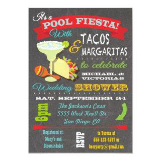 Tacos and Tequila Pool Wedding Shower Invitation