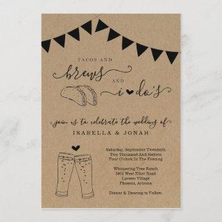 Tacos & Brews And I Do's Wedding Invitations