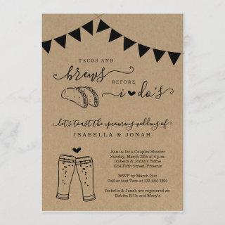 Tacos & Brews Before I Do's Couples' Bridal Shower Invitation