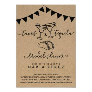 Tacos & Tequila Couples' Bridal Shower Invitations