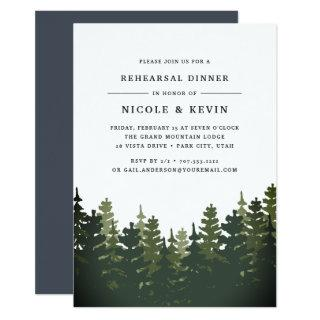 Tall Pines Rehearsal Dinner Invitations