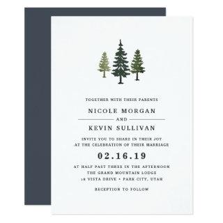 Tall Pines Wedding Invitations